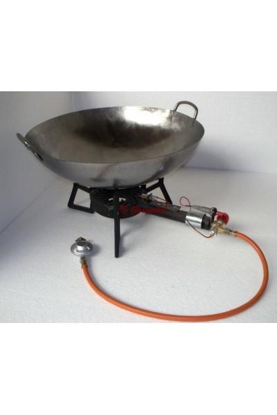 ensemble r chaud trois pieds en fonte avec wok 51 cm gazproduit. Black Bedroom Furniture Sets. Home Design Ideas
