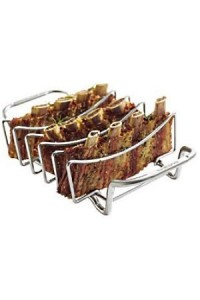 Broilking grille et support pour cuissons ribs